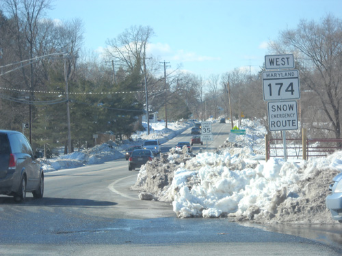 MD 174 in Snow, 2010